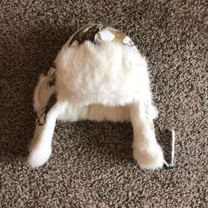 Arctic Camo Rabbit fur hat